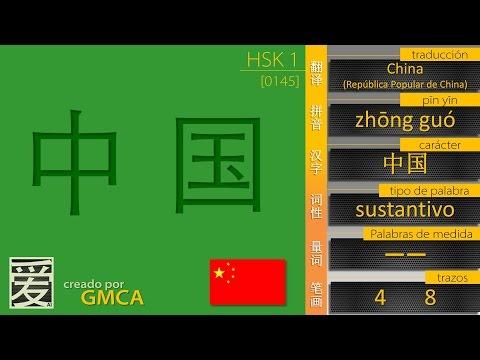 ¿cómo se dice CHINA en Chino? 中国 (HSK 1)