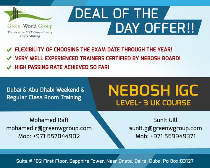 NEBOSH IGC Safety course UAE - Online Safety Community