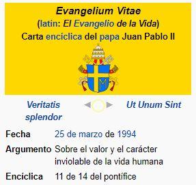 Evangelium vitae - Carta Encíclica de S.S. JUAN PABLO II: Sobre el valor y el carácter inviolable de la vida humana