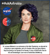 Ask an Astrobiologist with Dr. Lucianne Walkowicz - 16 July at 10:00 Pacific Time