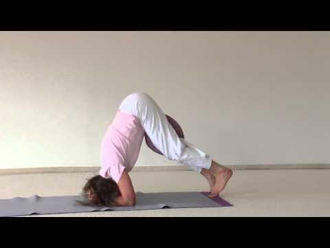 Scorpion with a Pillow- Hatha Yoga Asana