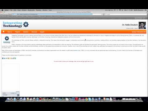 Introduction to a Moodle Website