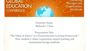 The Value of Values - 2014 webinar Global Education Conference