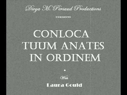 Conloca Tuum Anates in Ordinem