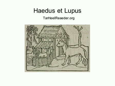Fabella (2): Haedus et Lupus