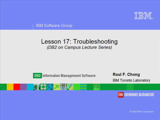 Lesson 17: Troubleshooting