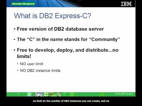 1. Introduction to DB2 Express-C