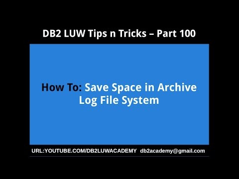 DB2 Tips n Tricks Part 100 - How To Save Space in Archive Log File System