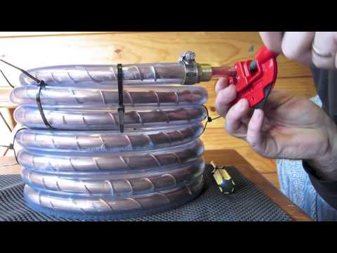 Counterflow chiller, build and test