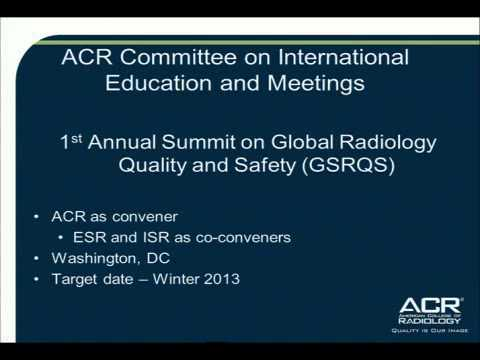 Dr. John Patti's Chairman Report - American College of Radiology 2012
