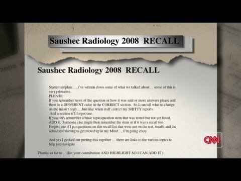 Radiology Recalls Scandal - CNN Doctors cheated on exams