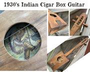 - 1930's Indian Cigar Box Guitar -