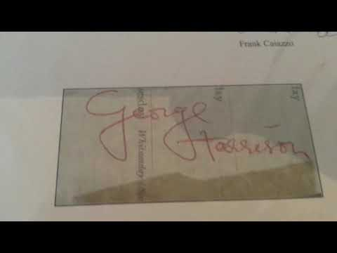 George Harrison Full Name Autograph Late 1964/Early 1965 Beatles Signed