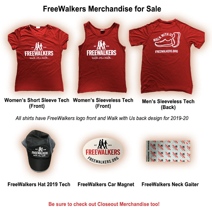 Freewalkers merch July 2019