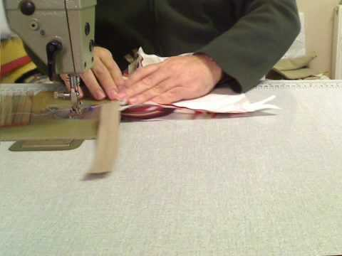 Inserting a zipper in to a piped cushion - part 2