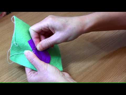 How to sew the blanket applique or button hole stitch