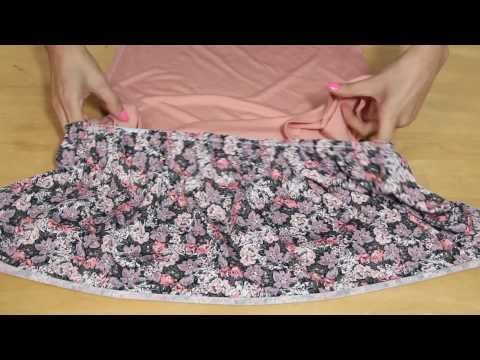 How to Sew a Mini Spring Dress - Recycling a T-Shirt