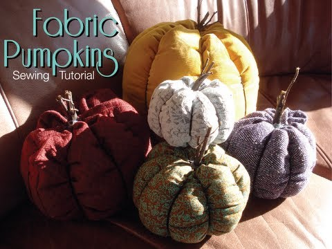 Fabric Pumpkins - Sewing Tutorial