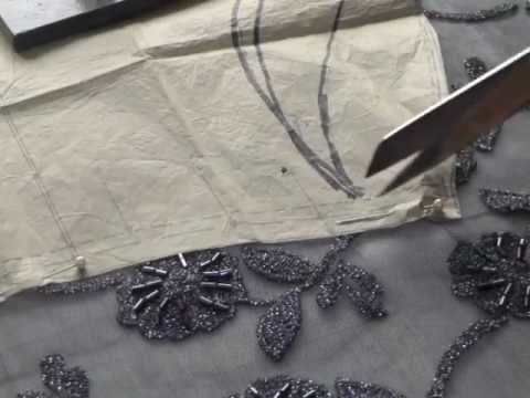 Cutting Out Lace Fabric