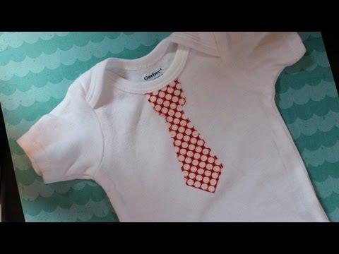 Appliqued Tie Onesie Sewing Tutorial - Easy - Whitney Sews!