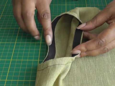 Facing an Armhole with Bias Binding