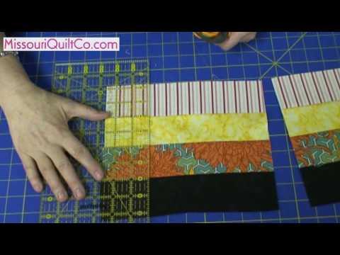 Fence Rail Quilting Block - Beginner Block Quilting Demo