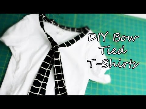 Refashion: Bow Tied T-Shirts