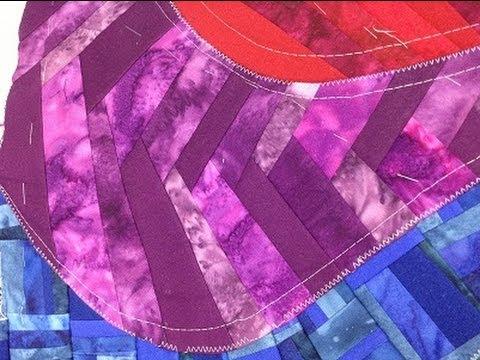 Foundation Piecing a Scrappy Braid Pattern
