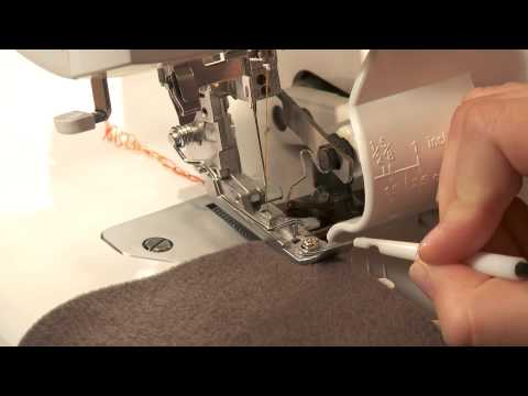 Serger Sewing: How to Sew a 2 Thread Flatlock