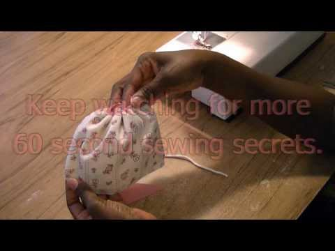 Gathering Using Piping - 60 Second Sewing Secrets