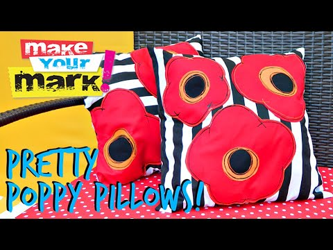How to: Pretty Poppy Pillows