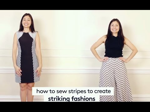Fashion Sewing & You: How to Sew Stripes to Create Striking Designs