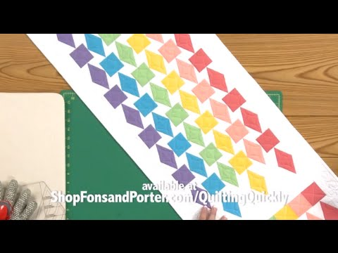 Refraction Rainbow Quilted Table Runner Tutorial