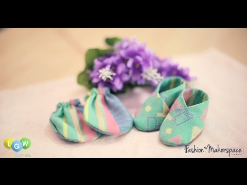 How to Sew Baby Booties with FashionMakerSpace