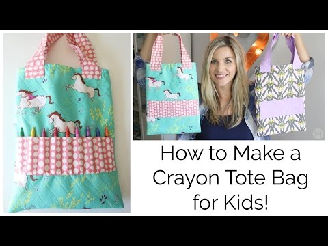 How to Sew a Crayon Tote Bag for Kids!