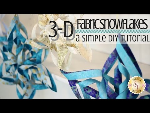 Easy 3D Fabric Snowflakes | with Jennifer Bosworth of Shabby Fabrics