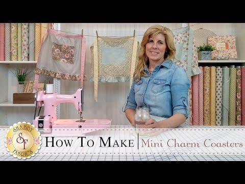 Country Kitchen Mini Charm Coasters | with Jennifer Bosworth of Shabby Fabrics