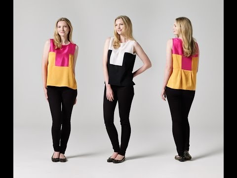 How to Make a Two-Tone Singlet   Teach Me Fashion   FREE Sewing Pattern
