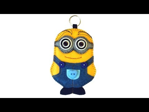 How to make a Minion keyring in felt with Free pattern by Lisa Pay