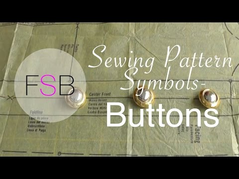 Sewing Pattern Symbols: Buttons