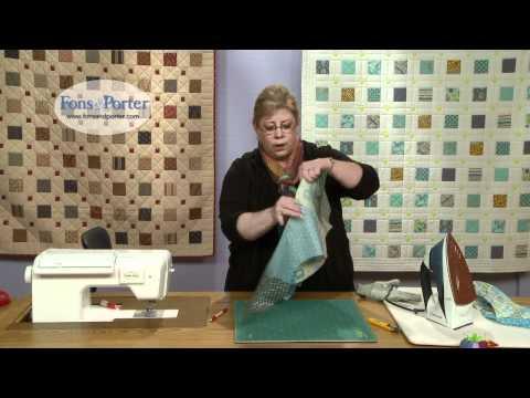 Sew this Easy Apple Core Quilt Block