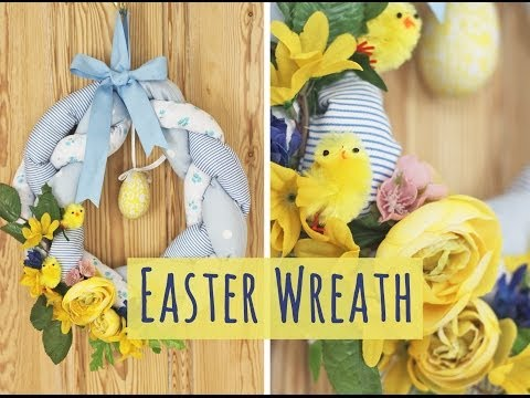 Sew a Pretty Spring Fabric Wreath for Easter - Ideal Upcycle Project