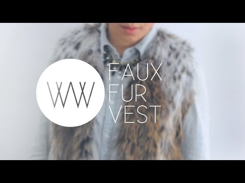 How to Sew a Faux Fur Vest - Free Tutorial