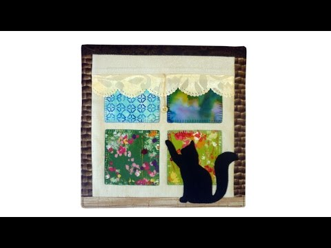 Window mini quilt with FREE PATTERN by Lisa Pay