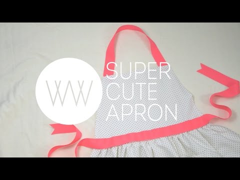 How to Sew a Cute Apron - withwendy