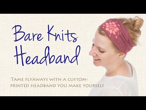 Tame Flyaways With a Headband You Print and Sew Yourself