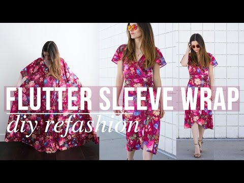 Flutter Sleeve Wrap Dress Refashion with Elizabeth Bryson