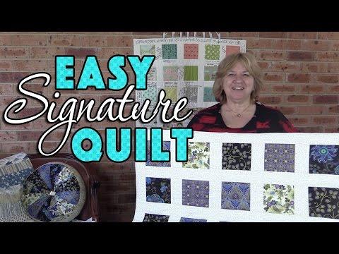 Beginner's Quilting Tutorial: Easy Signature Quilt - No Binding!