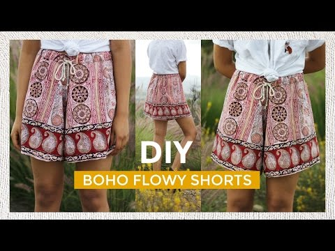 Learn to Sew Boho Summer Shorts with a Free Video DIY from Pacifically