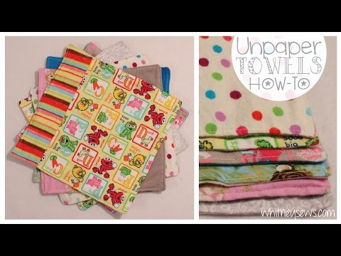 Sew Fabric Kitchen Towels from Whitney Sews